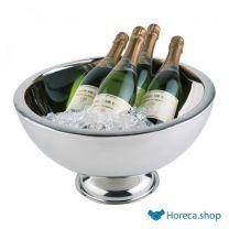 Rvs champagnekoeler, Ø44 x h24 cm