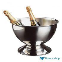 Rvs champagnekoeler, Ø40,5 x h22,5 cm