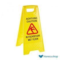 """Waarschuwingsbord """"wet floor"""", 30x63xh63 cm"""
