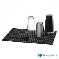 Barmat, 45×21 cm, zwart