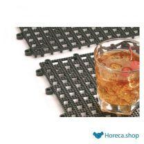 Afdruip barmat, transparant, 33×33 cm