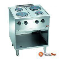 Elektrisch fornuis 4 ronde kookplaten op kast