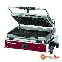 Elekt. panini grill medium geribde platen