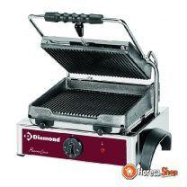 Elektrischer panini-grill, gerippte teller