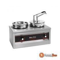 Sauzen/spijzen warmer (cap.2st.) m/dispenser