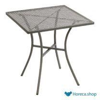 Bolero vierkante stalen bistro tafel grijs 70cm