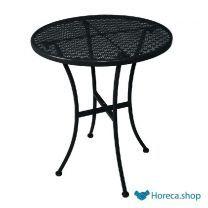 Ronde stalen bistro tafel zwart 60cm
