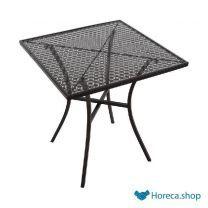Vierkante stalen bistro tafel zwart 70cm
