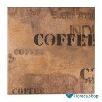Werzalit vierkant tafelblad coffee sack 60cm