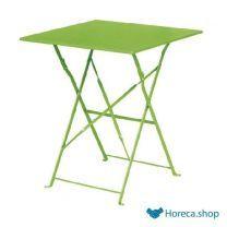 Bolero vierkante opklapbare stalen tafel groen 60cm
