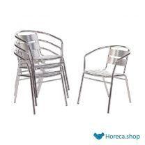 Stapelbare aluminium stoel (4 stuks)