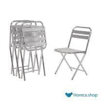 Bolero opklapbare aluminium stoel (4 stuks)