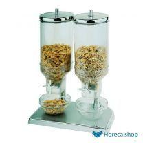 Muesli/corn flakes dispenser 2x 4,5 l. - 22x35x52(h) cm