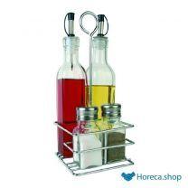 Menage olie/azijn, peper/zout 350 ml.
