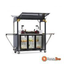 Coolrolly smoothiebar multifunctionele mobiele pop-up smoothiebar 1850x750x(h)2040mm