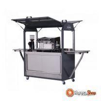 Coolrolly barista multifunctionele mobiele pop-up koffiewagen 1850x750x(h)2040mm