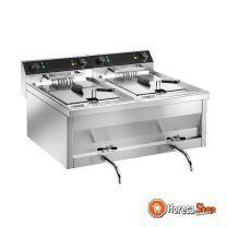 Frituurpannen tafelmodel gastroline 9+9v