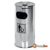 Afvalbak met asbak model remco