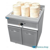 Dim sum steamer with cabinet model l7/dse800bc