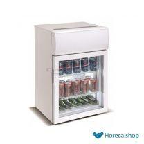 Mini glasdeur koelkast 75l