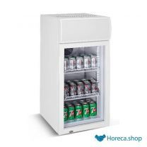 Mini glasdeur koelkast 80l