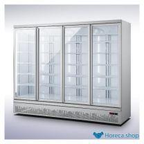 Koelkast 4 glasdeuren jde-2025r  *transport op aanvraag*