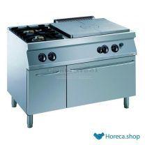 Pro 700 kookplaatfornuis 2 br. gas oven