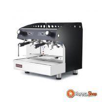 Espresso apparaat 2 groepen, half-automatisch - zwart