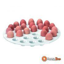 Schaal in porselein 28 eieren voor da/rtr