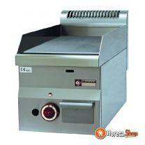 Plaque de cuisson à gaz avec plaque plate -top-
