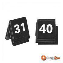 Tafelnummer set 31-40 zwart