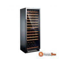 Wijnkoelkast zwart/aluminium | 270 liter | 600x630x1630(h)mm