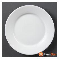 Whiteware-platten mit breitem rand 23cm