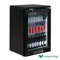 G-serie 1-deurs gekoelde bardisplay zwart 104 flessen