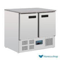 G-serie koelwerkbank met marmeren werkblad 240l