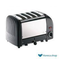 Vario 4-slot toaster schwarz 40344