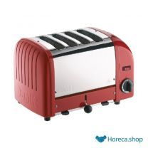 Vario broodrooster 4 sleuven rood 40353