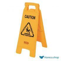 Meertalig waarschuwingsbord natte vloer