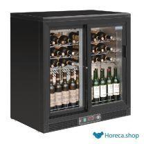 Refroidissement à vin horizontal polaire avec portes coulissantes