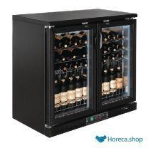 Refroidissement à vin horizontal polaire avec portes battantes