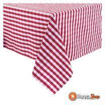 Mitre comfort gingham tafelkleed rood-wit 132 x 132cm
