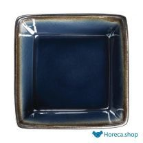 Olympia nomi vierkante tapaskommen blauw-zwart 11 x 11cm