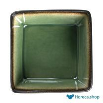 Nomi vierkante tapaskommen groen-zwart 11x11cm