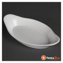 Whiteware ovale gratineerschalen 23x13cm