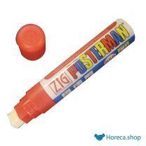 Zig posterman weerbestendige krijtstift rood 6mm