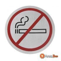 Deurschild niet roken zwart/rood 160 mm
