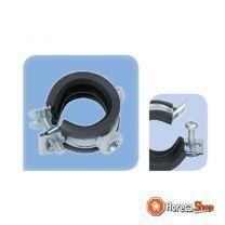 """Metaal/rubber beugel 26 - 28 mm bevestiging m8 - nps 3/4"""""""