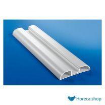 Basisprofiel stootband hard pvc 100 x 21 mm ral9010 - 4mtr/lng ral9010