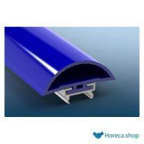 Inlegstrook zacht pvc blauw ral 5005 62 x 22 mm 4mtr/lng blauw