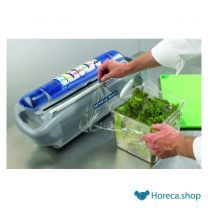Safety wrap station - foliedispenser met slice cutter